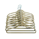 Closet Spice Velvet Hangers with Hook & Tie Bar - Set of 40 (Natural)