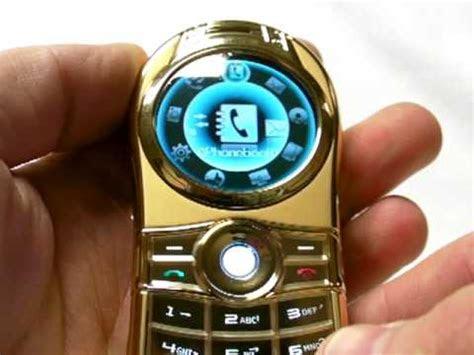 luxury  metallic body orbit ball mobile phone dual