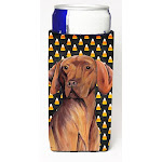 Vizsla Candy Corn Halloween Portrait Michelob Ultra s for slim cans CO239215