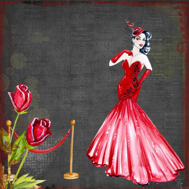 Retro Lady In Red Art Collage Free Stock Photo - Public ...