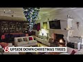 decorating ideas for upside down christmas trees