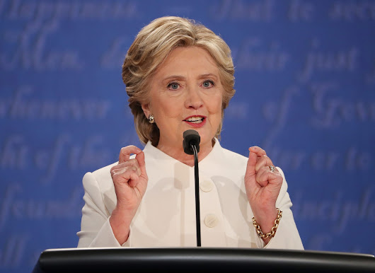 During the debates, Clinton's weakness has been defending her positions
