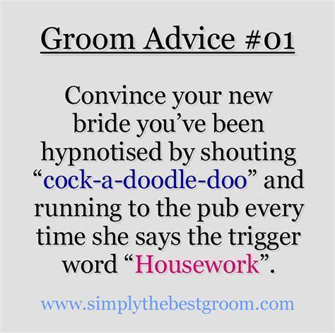 Groom Advice #01   Being Responsible   Funny wedding