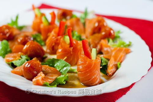 三文魚青瓜卷配醬油汁 Soy Sauce Salmon Rolls02
