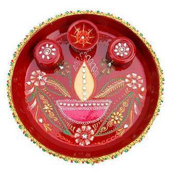 Diwali Pooja Thali Decoration Ideas   Latest Ha...