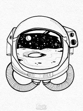 Gambar Helm Astronot