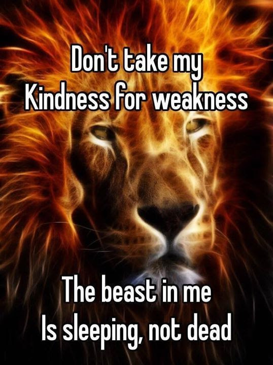 Kindness For Weakness Quotes Take My As A Sign Of Attitude Cover