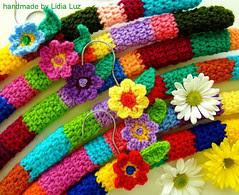 Florzinha do campo, cabide de crochê