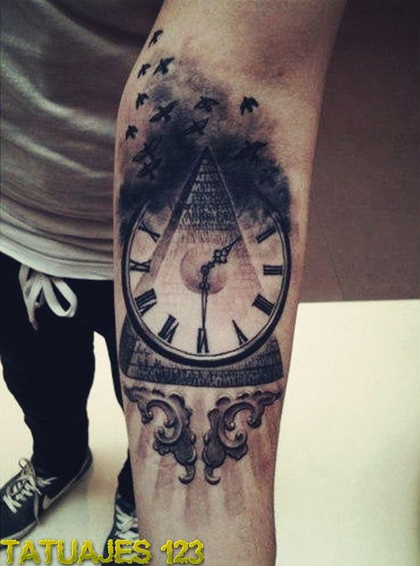 Reloj En El Brazo Tatuajes 123
