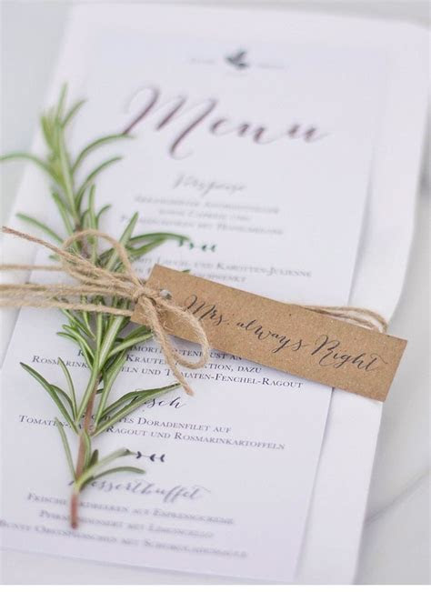 Best 25  Wedding menu cards ideas on Pinterest   Wedding