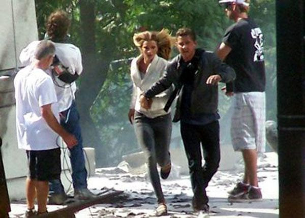 While holding hands with Megan Fo—err, Rosie Huntington-Whiteley, Shia LaBeouf runs away from danger in TRANSFORMERS 3.