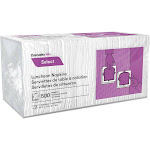Select Luncheon Napkins, 1 Ply, 11 1/4 x 12 1/2, White, 500/Pack, 6000