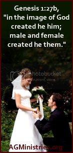 AGMinistries.org: Marriage is between a man and a woman.