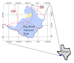 Image of index map of Big Bend