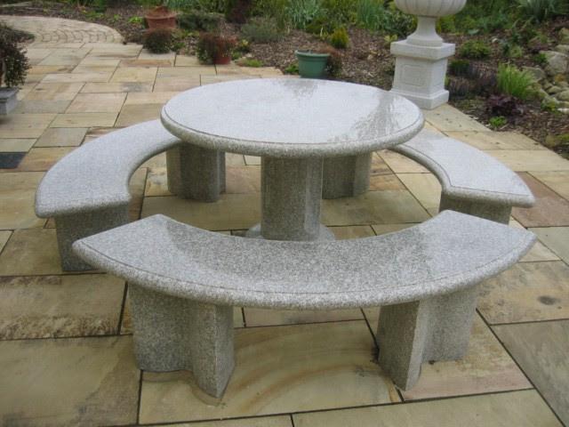 Garden Benches | Granite Table | Granite Furniture ...