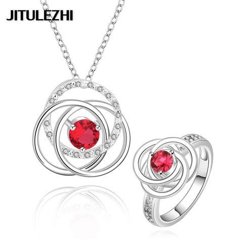 Women's silver wedding jewelry sets bridal jewelry sets
