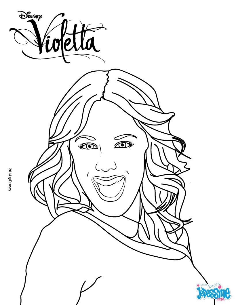 coloriage portrait de violetta qr9
