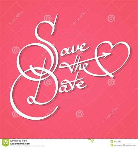 Save The Date Calligraphy Stock Vector   Image: 40781581