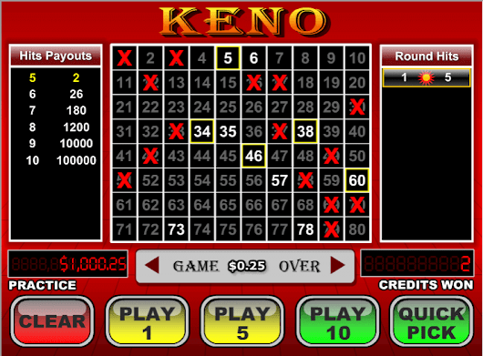 Online Keno - Play the Thrilling  Online Keno at UK Casinos