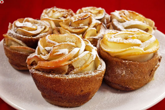 Vegan Baked Apple Roses For Valentine's Day - MyHealthyDessert