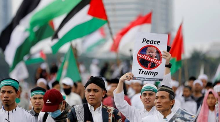 indonesia, indonesia jerusalem protests, donald trump