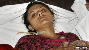 Shumaila, widow of Mohammad Faheem, in hospital before her death