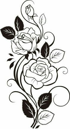 Silhouette Flower Designs At Getdrawingscom Free For Personal Use