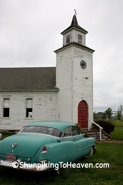 Old 1950s Cadillac at Salem Country Church, Red Oak II, Jasper County, Missouri
