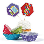 Science Party Cupcake Wrappers (50 sets) - 95101 - Pack of 50 - Blue/Purple