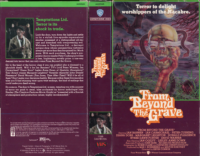 FROM BEYOND THE GRAVE (VHS Box Art)