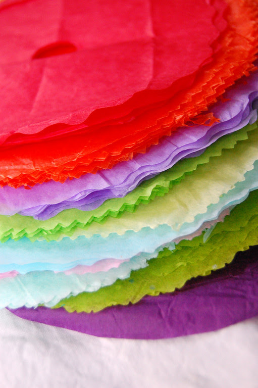 tissue paper flowers how to make. to make paper flowers.