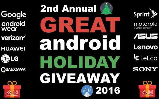 The Great Android Holiday Giveaway 2016 - 2017 - Over 20 Prizes to Win!