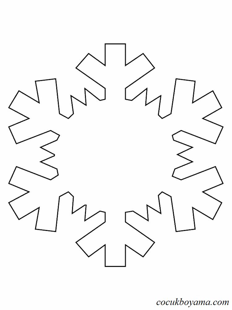 Kar Tanesi 16 ücretsiz Boyama Resimleri