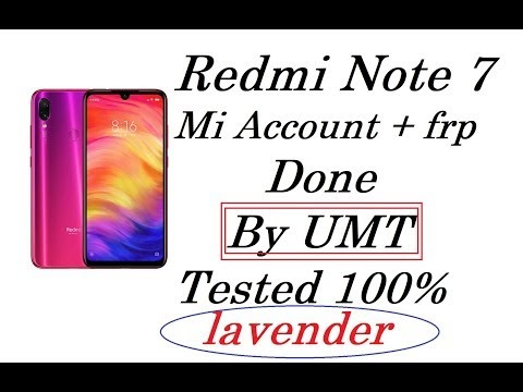 Redmi Note 7 [LAVENDER] Login Free | mi account frp done by umt qc fire 100% tested