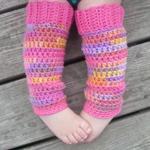 Bubblegum Baby Leg Warmers
