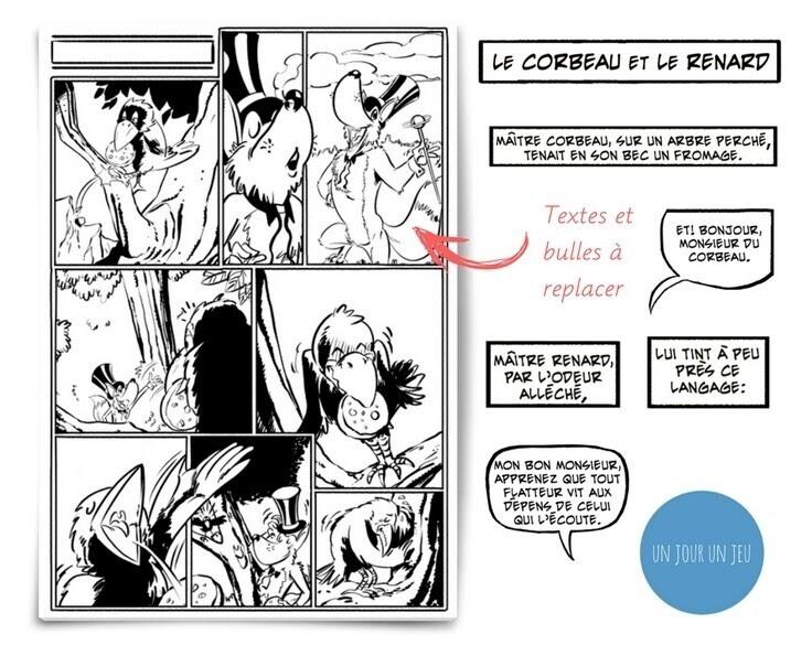 Fable De La Fontaine Le Corbeau Et Le Renard Texte ...