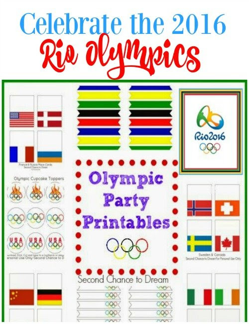2016 Rio Olympic Party Printables - Second Chance To Dream
