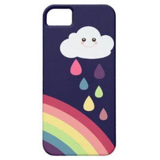 Sweet Rainbow & Cloud iPhone Case iPhone 5 Cases