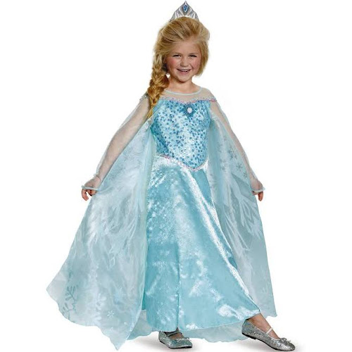 9028cb919ce24 Elsa Costume Kids Frozen Disney Princess Halloween Fancy Dress Up, Medium