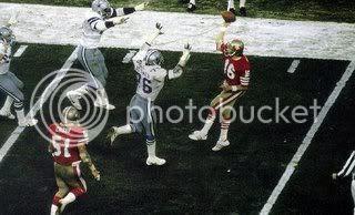 Joe Montana throws