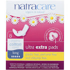 Natracare Pads, Ultra Extra, Long - 8 pads