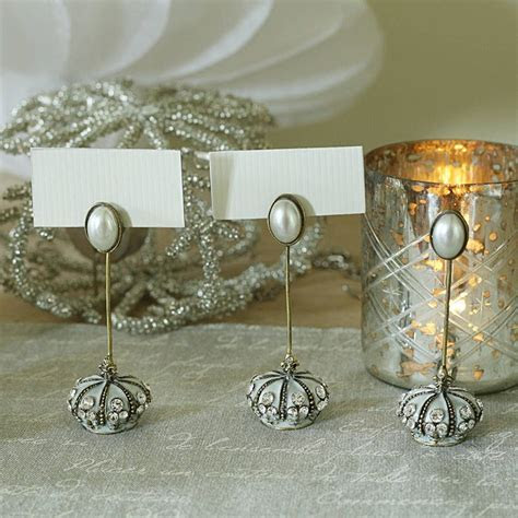 Wedding Place Card Holder With Diamante And Pearl Trim