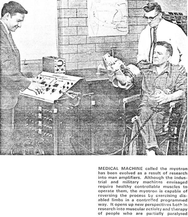 Machines With strength ScienceJournalOct68 myo x640 1961 2   Cornell Aeronautical Labs Man Amplifier   Neil Mizen (American)