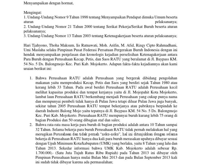 Contoh Surat Pengunduran Diri Dari Serikat Buruh - Berbagi ...