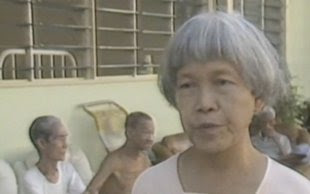 A younger Teresa Hsu in a CNN interview in 1988 at her Home for the Aged Sick. (Screenshot from CNN)