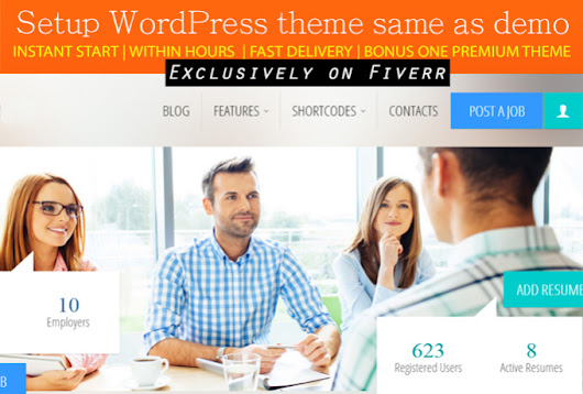 I will setup WORDPRESS theme same as demo for $5