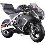 MotoTec Cali 40cc Gas Pocket Bike - White