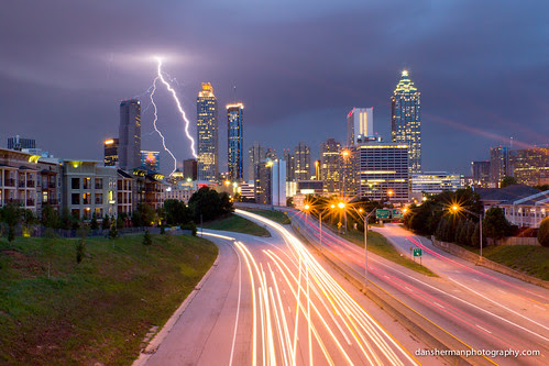 Lightning Storm Over Atlanta por Dan Sherman