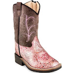 Old West Broad Western Square Toe Boot Toddler