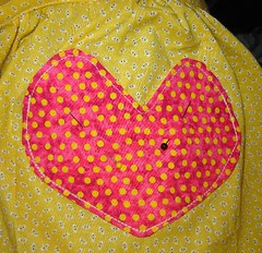 Pin and sew pocket on